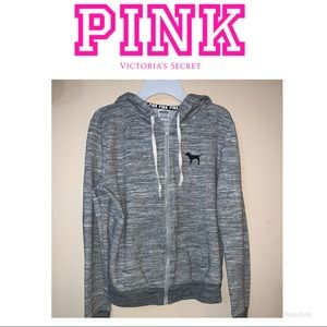 Victoria's Secret Pink zip up hoodie small